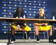 At the Michigan press conference (Tommy Alexander / MJ)