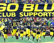 Michigan Wolverines take the field as they take on the Fighting Illini (Tom Alexander / MJ)