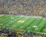 Kickoff at Michigan Stadium (Chris Zadorozny / MJ)
