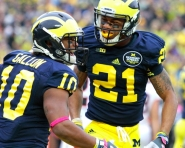 Jeremy Gallon with Roy Roundtree during Saturday's game against Illinois (Tom Alexander / MJ)