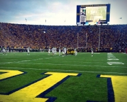 On the field at Michigan Stadium as Wolverines take on the Spartans (Credit: Chris Zadorozny / MJ)