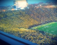 Total attendance according to @umichfootball at Saturdays Michigan vs. Michigan State game: 113,833 (Credit: Chris Zadorozny / MJ)