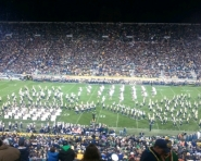 University of Michigan Marching Band at halftime (Chris Zadorozny / MJ)