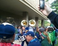 Tubas before the Michigan vs. Notre Dame game (Chris Zadorozny / MJ)