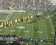 Purdue spelled out on field (Chris Zadorozny / MJ)