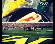 Halftime eats at Michigan Stadium (Tommy Alexander / MJ)