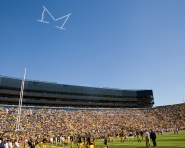 Skywriting over Michigan Stadium (Tommy Alexander / MJ)
