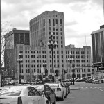 The former Detroit Free Press building from Washington Blvd. (Detroit 1701.org)