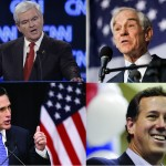 Gingrich, Paul, Romney and Santorum (AP Photos)