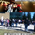 "There's an image on the UM-Dearborn Memes Facebook page that reads, ""Wayne State gets Lupe Fiasco, we get a yelling atheist."" And that's just one example of the cool things that happen on other campuses that we never get."