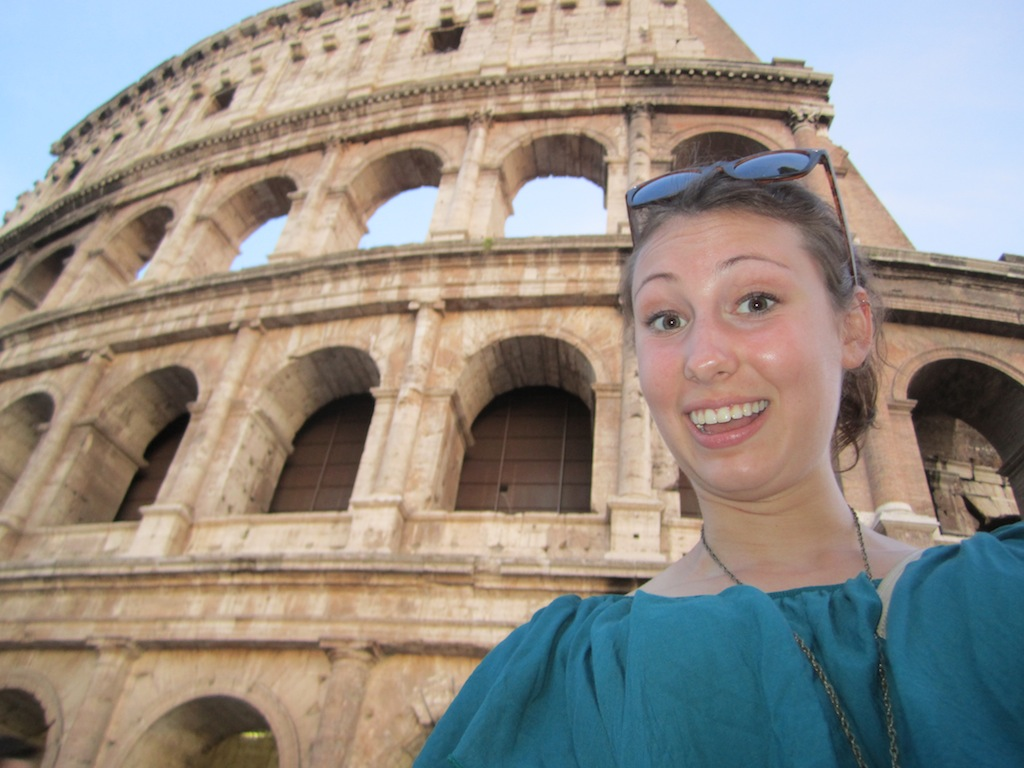 Liz visits the Colosseum. (Elizabeth Bastian / MJ)