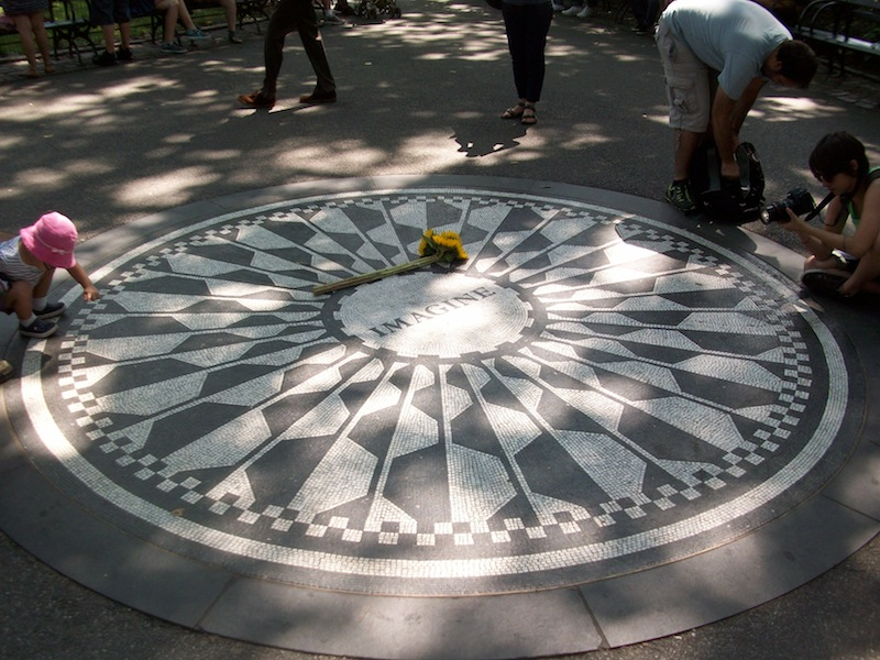 John Lennon's memorial in Strawberry Fields in Central Park (Chris Zadorozny / MJ)