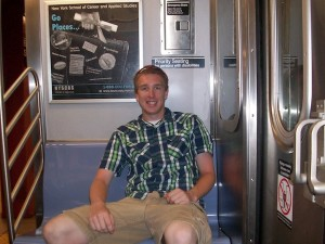 Chris Zadorozny on a New York City subway