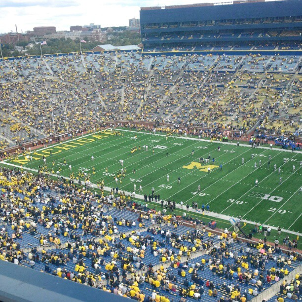 239th consecutive game at The Big House with more than 100,000 fans in attendance. Official attendance is 112,522. (Chris Zadorozny / MJ)