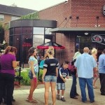 A line snakes out the door at the Jimmy John&#039;s in west downtown Dearborn on Thursday for customer appreciation day. (Photo Credit Jessica Carreras on Patch)