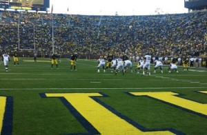 Fourth quarter during UMass vs. Michigan game