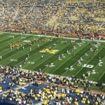 Michigan comes onto the field (Chris Zadorozny / MJ)