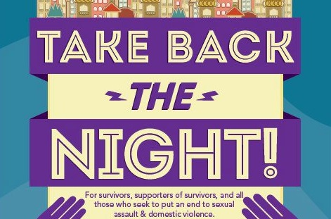 Click to visit the event for 'Take Back the Night.' (Pictured: Flyer for event)