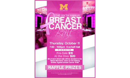 This year's Homecoming Week will feature the 6th Annual Breast Cancer Benefit Ball.  View the Facebook event here.