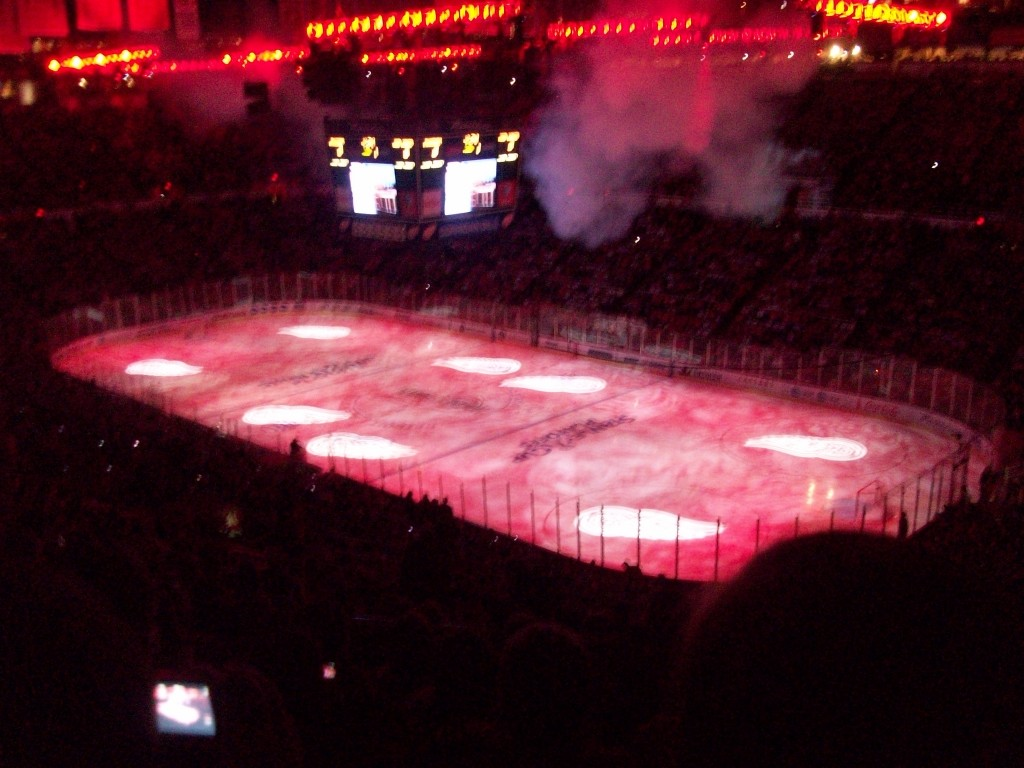 The Red Wings will return to Joe Louis Arena next Tuesday for their home opener. (Chris Zadorozny/MJ)