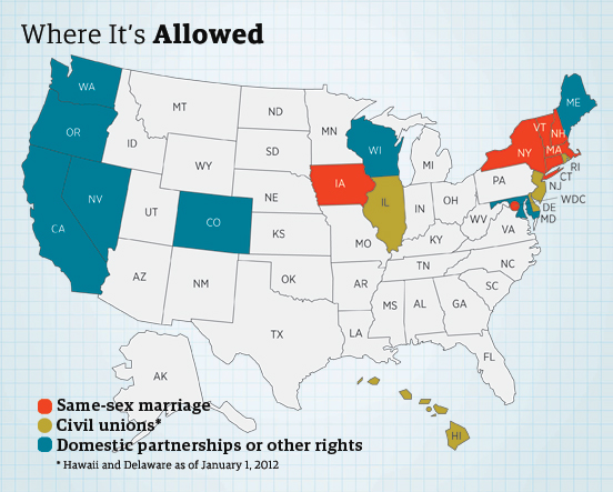 Us states that allow homosexual marriage images