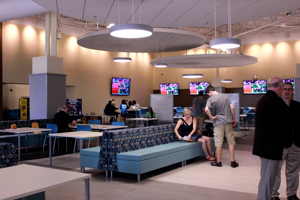 The Union has many amenities for students including a theater, courtyards, and meeting rooms.  Amanda Gosline/ MJ