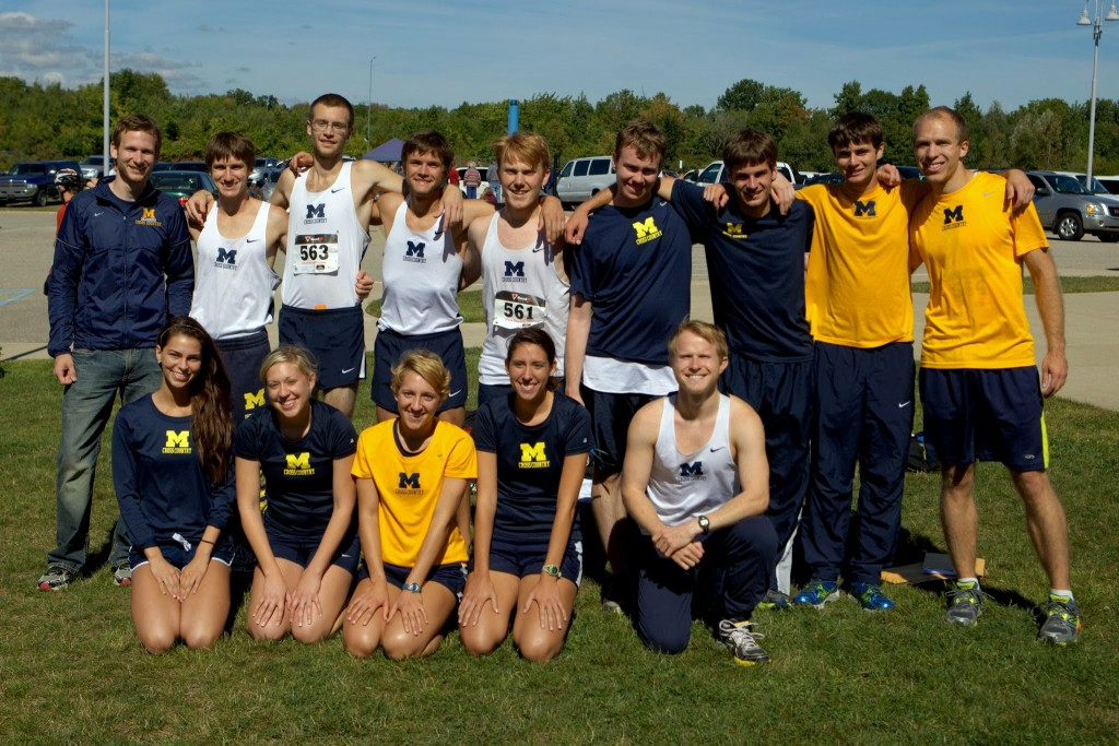 The cross country team at the Calvin Knights Invitational. Photo courtesy of Ted Williamson.