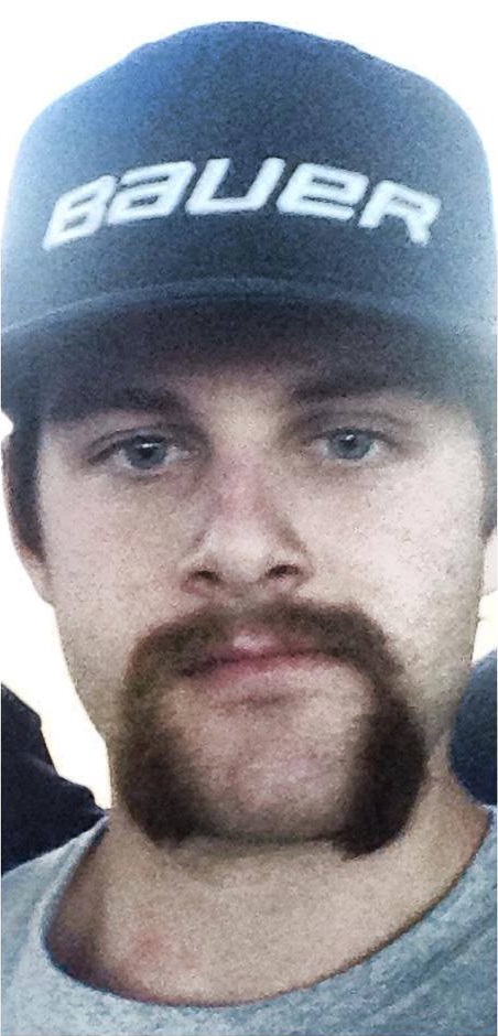 """Nick Crowley's mustache, which won the Detroit Red Wings' """"Wild Mustaches"""" contest. Photo courtesy of Nick Crowley."""