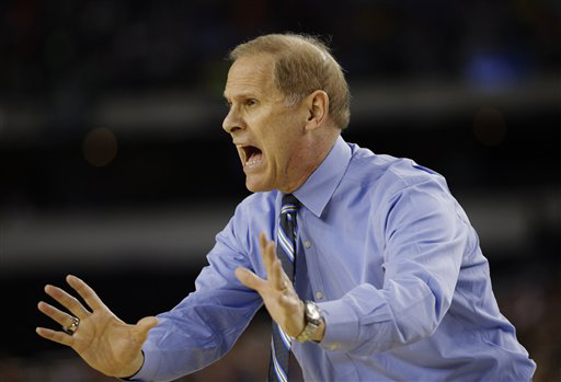 Michigan head coach John Beilein during last season's semifinal game in the NCAA tournament. (AP Photo/David J. Phillip)