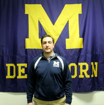 Patrick Riley, UM-Dearborn's new lacrosse goalie and defender coach. (Brianna Frisch/MJ)