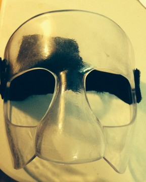The finished piece: Calcaterra's own mask with only one head strap. Photo courtesy of Danny Calcaterra.
