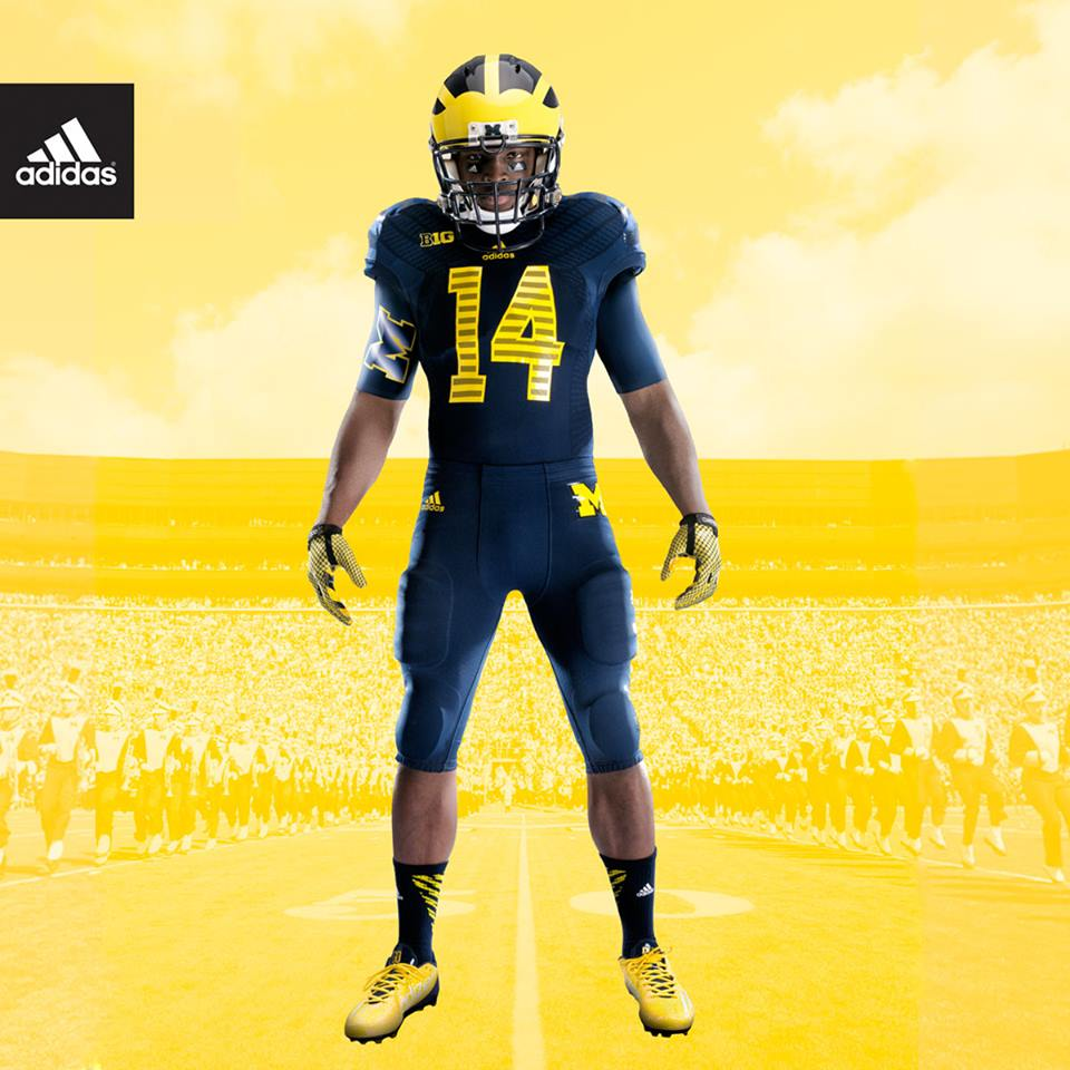 f12c1621019 On Oct. 11, Michigan will debut its first all-blue uniform against Penn  State. (Photo courtesy of adidas).