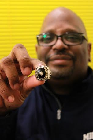 Dymetrius Ware won two state championship rings with Detroit Rogers Academy. (Amanda Gosline/MJ).