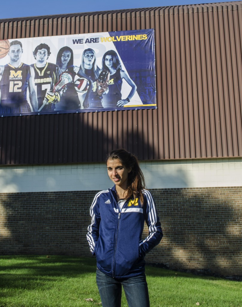 Julia Kassem experienced the pinnacle of success as a freshman runner for UM-Dearborn's cross country team. (Rebecca Gallagher/MJ).