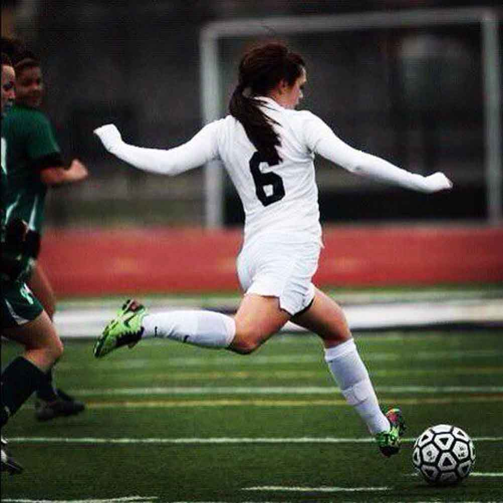 Megan Seccombe pictured during her high school soccer career. Photo courtesy of Seccombe.