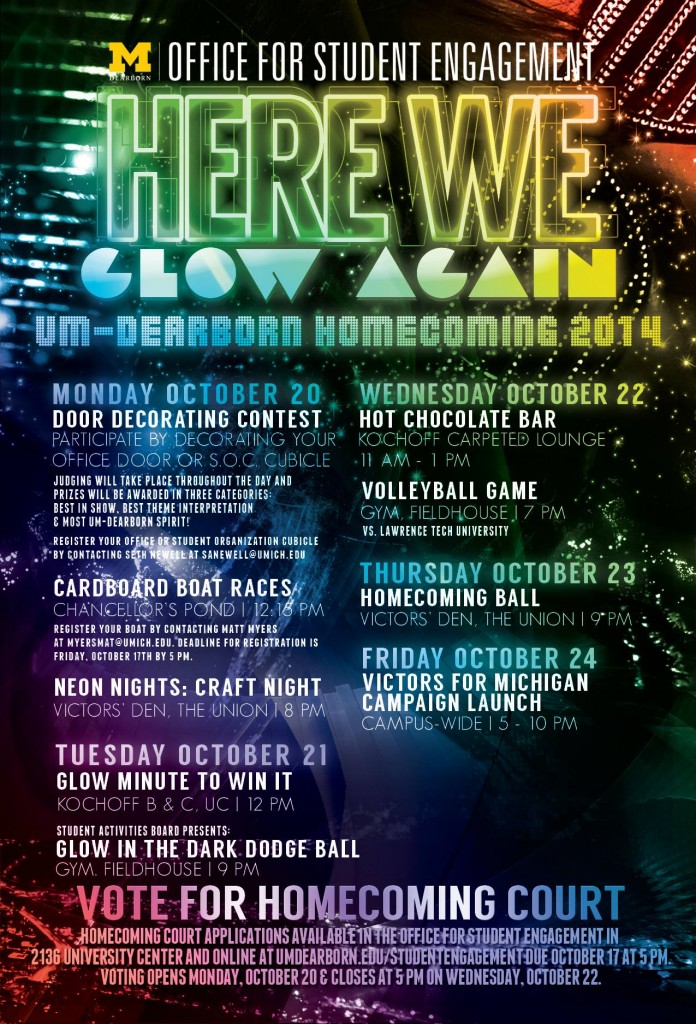 Homecoming week will continue to take place all over UMD campus from Oct 21 to Oct 24
