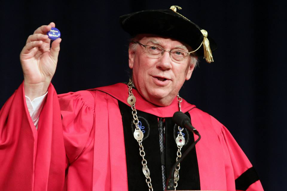 Daniel E. Little during the fall 2014 College of Arts, Sciences and Letters graduation ceremony. (Courtesy UM-Dearborn)