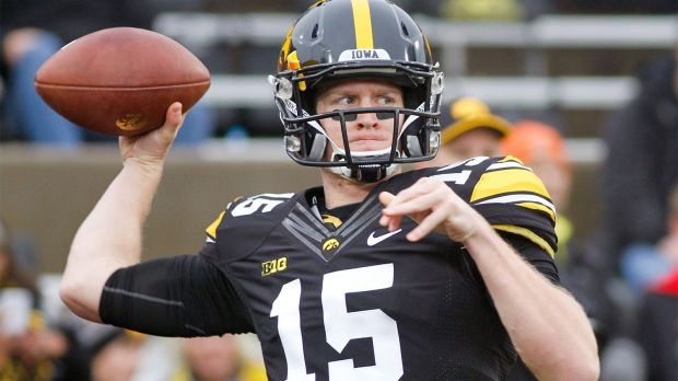 Jake Rudock, pictured with the Iowa Hawkeyes, transferred to Michigan as a graduate student. (Photo courtesy Getty Images)
