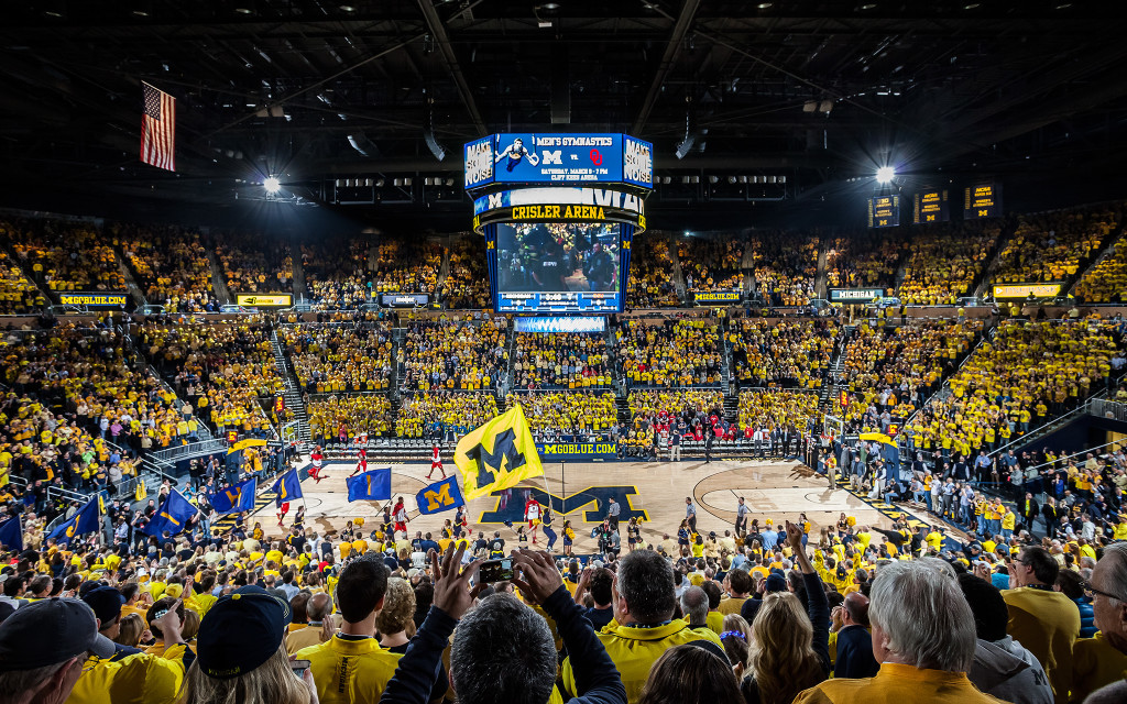 The University of Michigan-Dearborn women's basketball team will play at Crisler Center on Dec. 19, 2015. (Photo courtesy of ESPN)