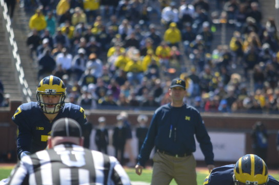 Jim Harbaugh Shane Morris Michigan football Spring Game