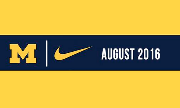 Michigan announces its partnership with Nike. (Photo courtesy @Umich)