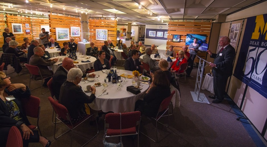 The Berkowitz Gallery hosted a 50-year reunion dinner on Oct. 9 to recognize the 1964, 1965 graduate classes.