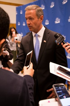 Presidential Candidate Martin O'Malley visited UM-Dearborn on Oct. 23. (Demetrio Nasol/MJ)