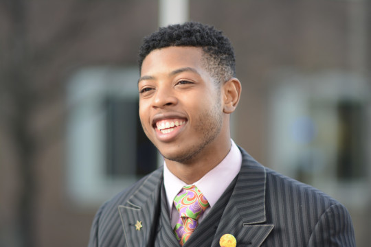 University of Michigan-Dearborn student Jewell Jones, 20, is campaigning for a seat on Inkster's City Council in District 4. The election is Nov. 3. (Shelby Lubienski/MJ)