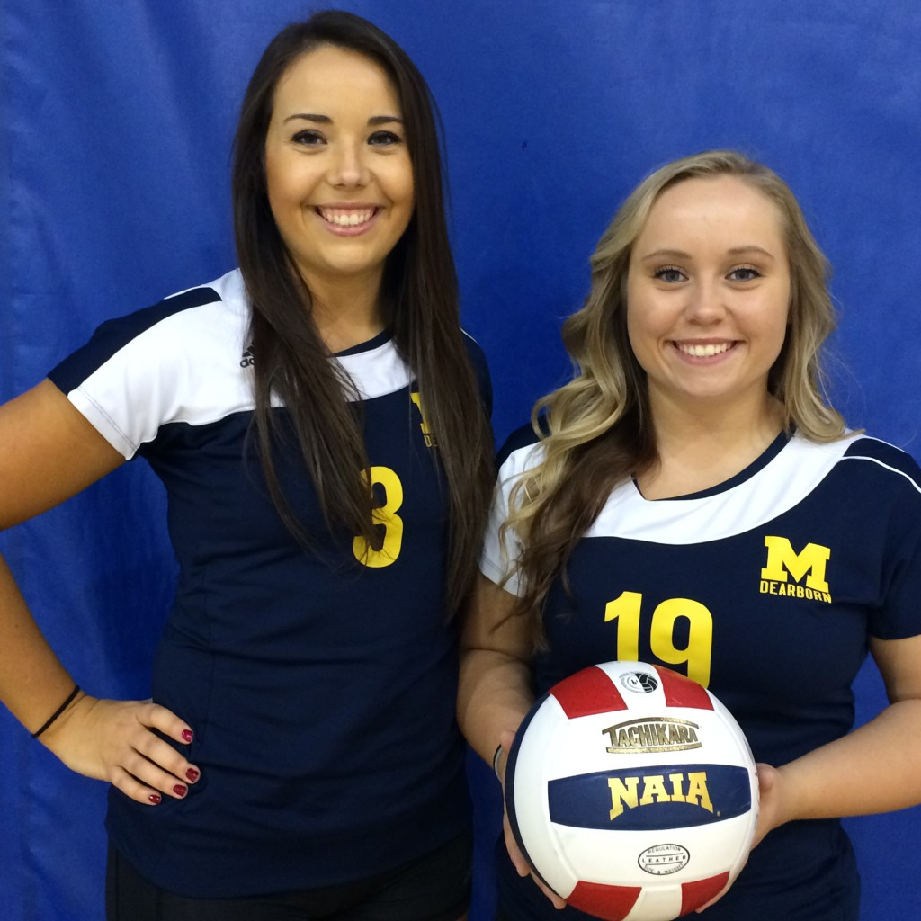 Sisters Brittany and Taylor Bejma play together for the first time this year. (Jordan Ewald/MJ)