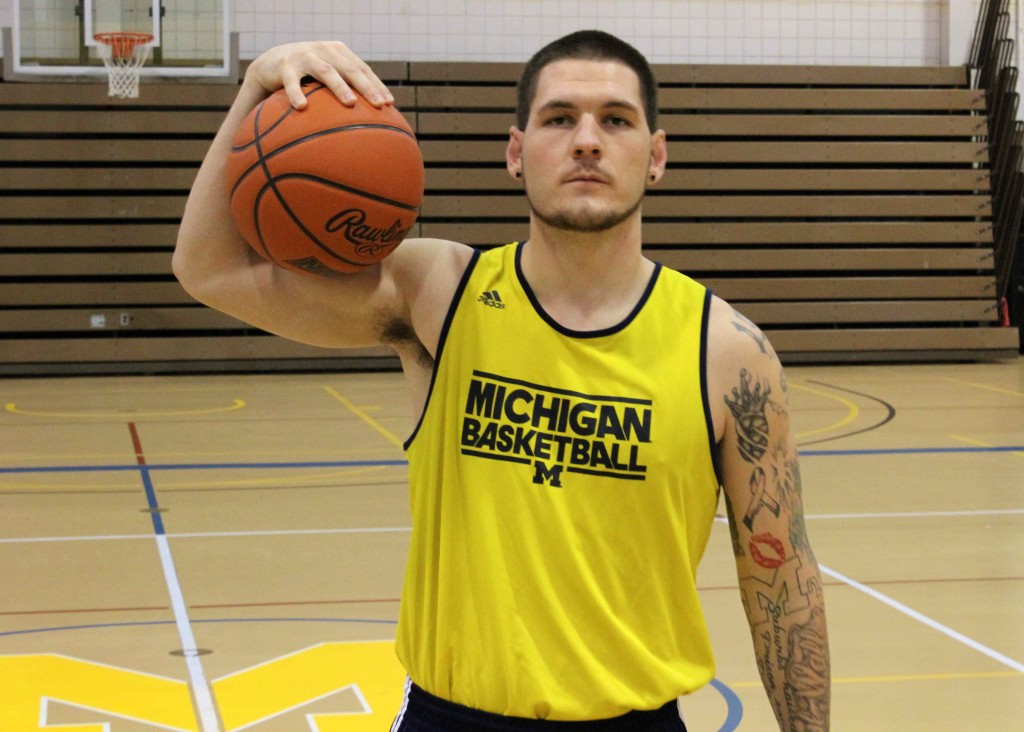 Men's basketball senior Paul Standtke joined the Michigan Journal Sports Podcast to preview the season. (Ricky Lindsay/MJ)