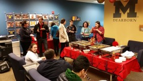 Students and Faculty enjoying Chinese food at OSE's celebration of the Chinese New Year. (Ricky Lindsay/MJ)