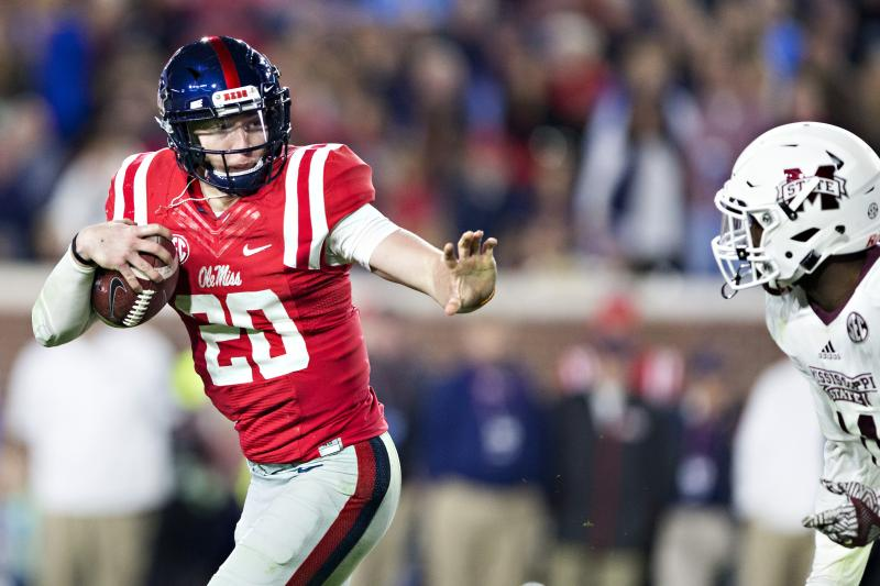 Ole Miss QB Shea Patterson says he's transferring to MI